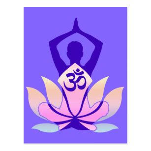 Namaste lotus flower yoga cards invitations zazzle om namaste spiritual lotus flower yoga on mauve postcard mightylinksfo