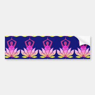 OM Namaste Spiritual Lotus Flower Yoga Pose Bumper Sticker