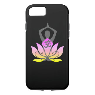 OM Namaste Spiritual Lotus Flower Yoga Pose iPhone 8/7 Case