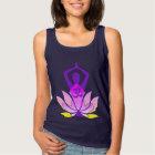 OM Namaste Spiritual Lotus Flower Yoga Pose Tank Top