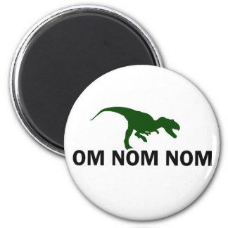 Om Nom Nom Dinosaur Rawr is Hungry 6 Cm Round Magnet