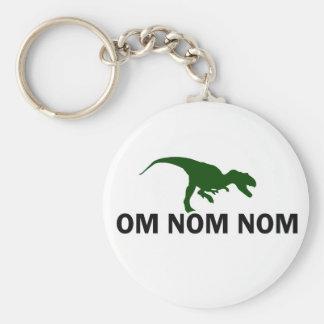 Om Nom Nom Dinosaur Rawr is Hungry Key Ring