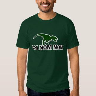 Om Nom Nom Dinosaur Rawr is Hungry Shirts