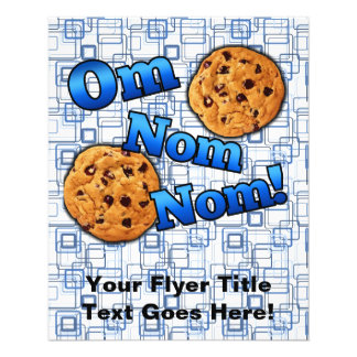 Om Nom Nom, Meme Love Cookies Flyer