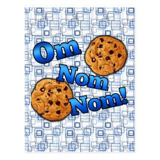 Om Nom Nom, Meme Love Cookies Postcard