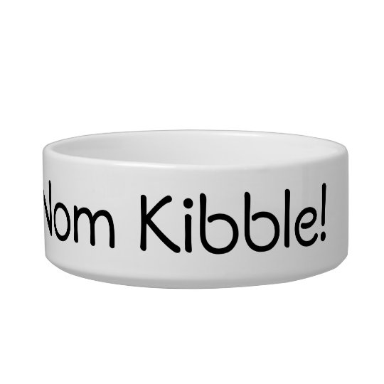 Om Nom Nom Nom Kibble Bowl