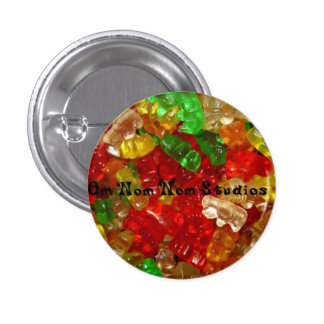 Om Nom Nom Studios Gummi Bears 3 Cm Round Badge
