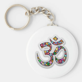 Om Ohm Aum Namaste Yoga Symbol Key Ring