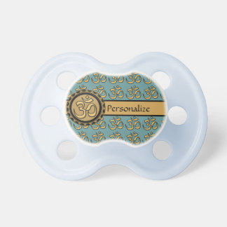 Om Pacifier Pick Your Background Color Personalize