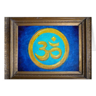 Om Painting by Maria-Tina Card