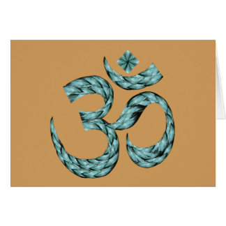 OM Peace note card