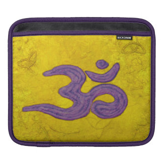 Om purple on gold iPad sleeve