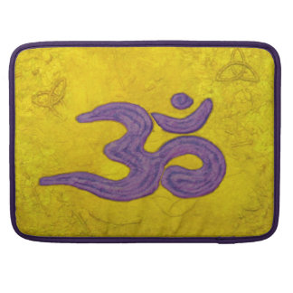 Om purple on gold sleeve for MacBook pro