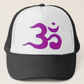 Om - Purple Trucker Hat