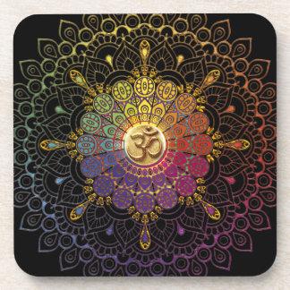 OM Rainbow Flower of Life Coaster
