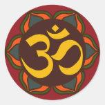 Om Retro Symbol Inner Peace Design! Sticker
