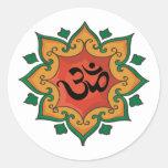 Om Round Sticker