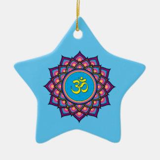 Om Shanti Om Ceramic Star Decoration