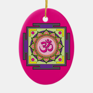Om Shanti Om Mandala Christmas Ornament