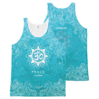 Om Shanti - Peace (M) All-Over Print Tank Top