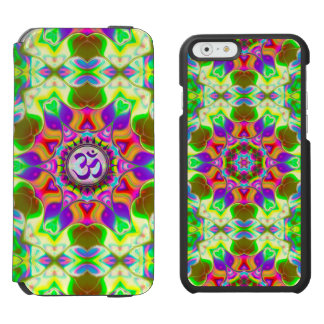 Om Shanti Purple Green Geometric Mandala iPhone Incipio Watson™ iPhone 6 Wallet Case