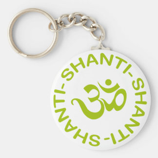 Om Shanti Shanti Shanti Gift Key Ring