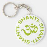 Om Shanti Shanti Shanti Gift Keychains