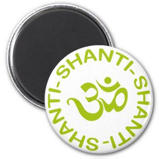 Om Shanti Shanti Shanti Gift Magnet