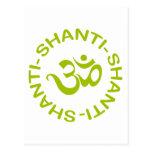 Om Shanti Shanti Shanti Gift Postcards