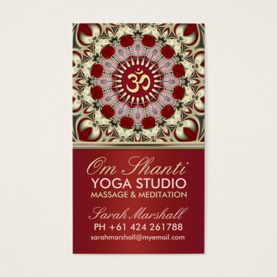 Om Shanti Yoga Studio Business Card