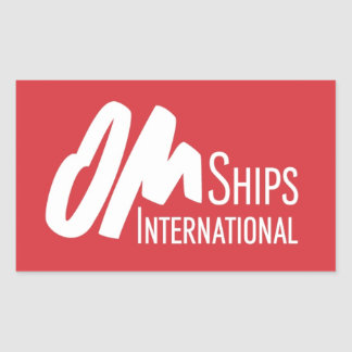 OM Ships Logo Rectangular Sticker