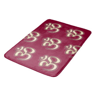 OM Signs on any background color you want Bath Mats