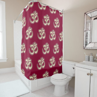 OM Signs on any background color you want Shower Curtain