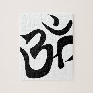 Om Silhouette Jigsaw Puzzle