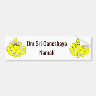 Om Sri Ganeshaya Namah Bumper Sticker 4 good-luck