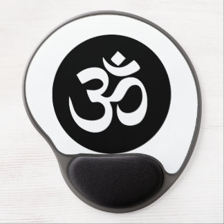 Om Symbol Circle Gel Mousepad Gel Mouse Mat