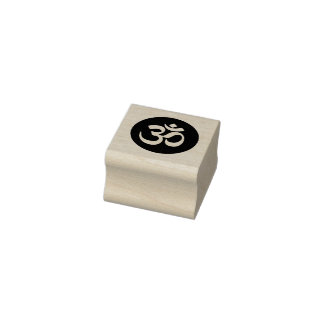 Om Symbol Circle Rubber Stamp