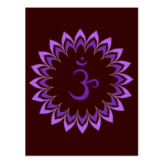 Om Symbol Crown Chakra Postcard