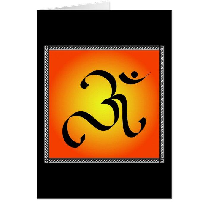 OM symbol Greeting Card