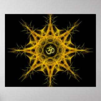 Om Symbol in Sacred Geometry - Aum Print