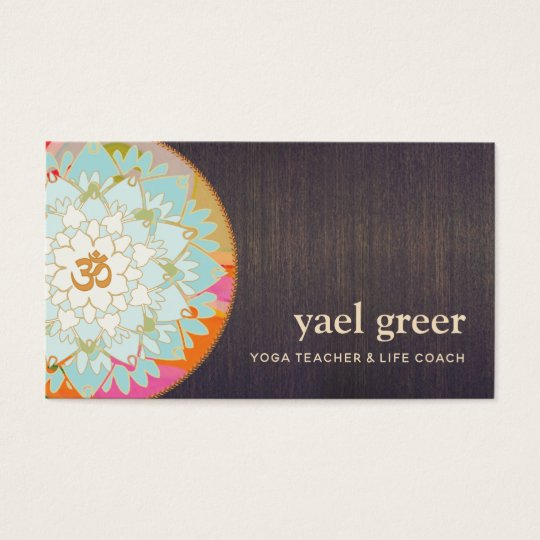 OM Symbol Lotus Mandala Art Business Card