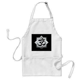 OM Symbol Lotus Spirituality Yoga Crest Standard Apron