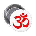 Om Symbol Mystical Sound in Hindu and Buddhism 6 Cm Round Badge