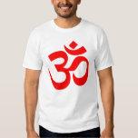 Om Symbol Mystical Sound in Hindu and Buddhism Tshirts