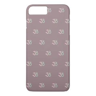 Om symbol pattern Sanskrit pastel pink green mauve iPhone 8 Plus/7 Plus Case
