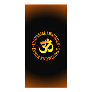 Om symbol personalised photo card