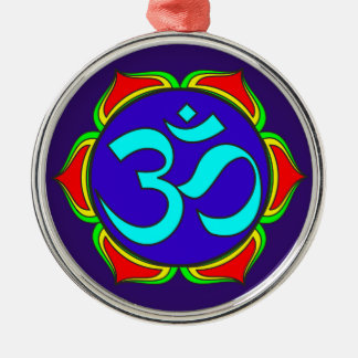 om symbol sacred Buddhism religion zen yoga flower Christmas Ornament