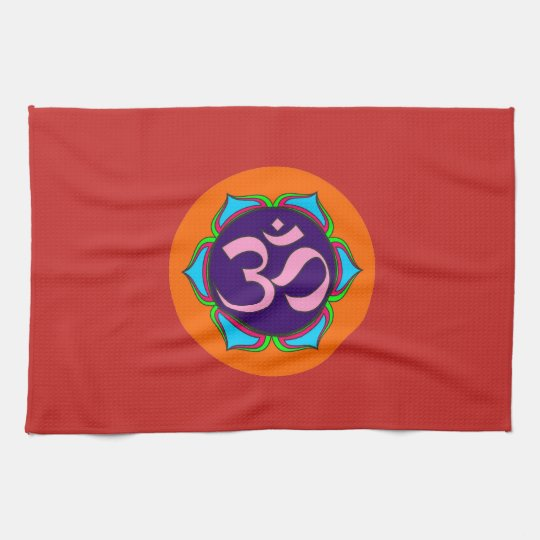 Om Symbol Sacred Buddhism Religion Zen Yoga Flower Tea