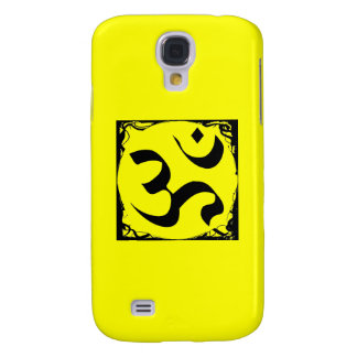 Om Symbol - Yellow iPhone Case Galaxy S4 Case