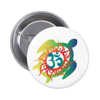 Om-Tatto-Vibrant-Turtle 6 Cm Round Badge
